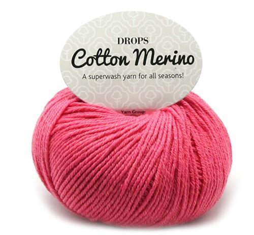 Drops Cotton Merino Uni Colour 13 Koraal