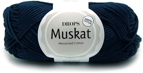 Drops Muskat Uni Colour 13 Navy-blue