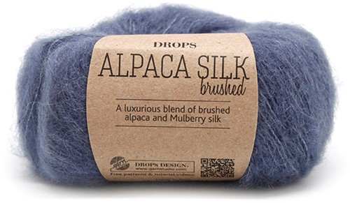 Drops Brushed Alpaca Silk Uni Colour 13 Denim-blue