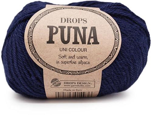 Drops Puna Uni Colour 13 Marineblauw