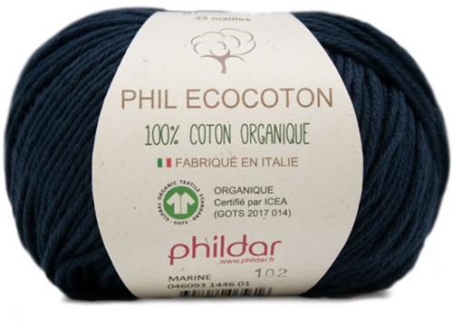 Phildar Phil Ecocoton 1446 Marine
