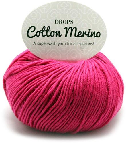 Drops Cotton Merino Uni Colour 14 Roze
