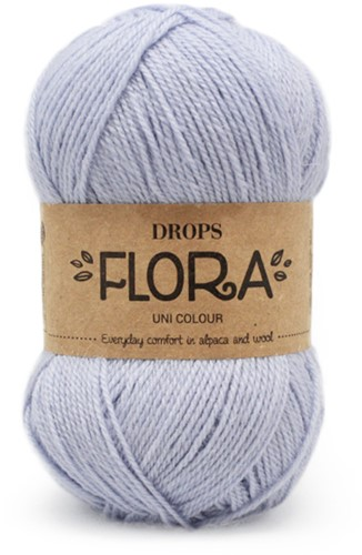 Drops Flora Uni Colour 14 Ice Blue