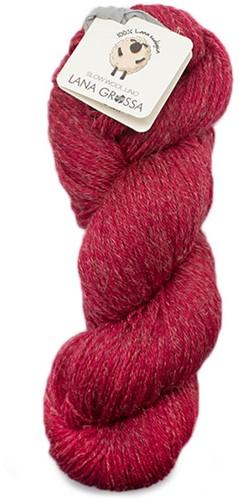 Lana Grossa Slow Wool Lino 014 Raspberry Red