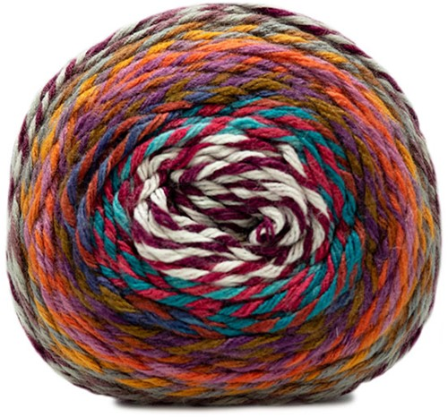 Katia Twisted Paint 150 Pearl / Light Purple / Orange