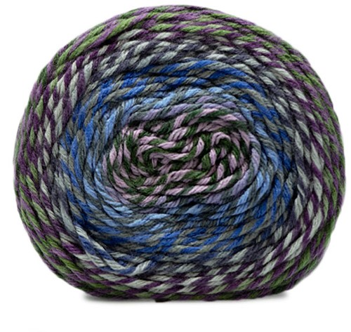 Katia Twisted Paint 151 Grey / Lila / Red