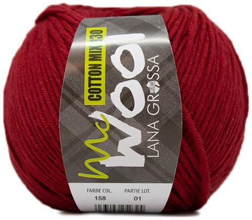 Lana Grossa Cotton Mix 130 158 Dark Red