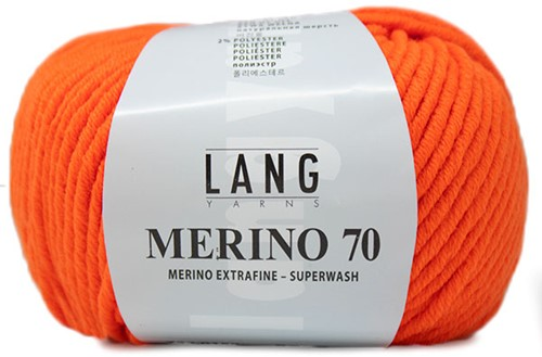 Lang Yarns Merino 70 159 Neon Orange
