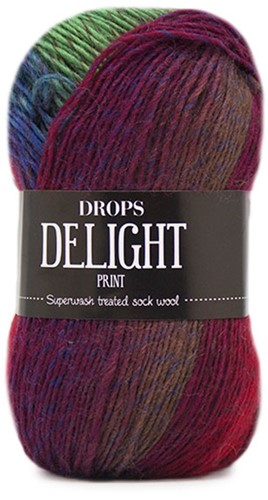 Drops Delight 15 Turquoise-burgundy-beige