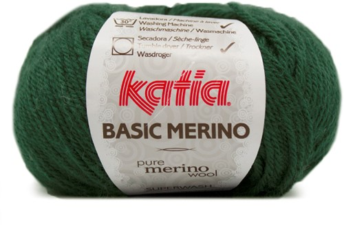 Katia Basic Merino 15 Very dark green