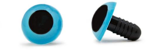 Veiligheidsogen Blauw 15mm per paar