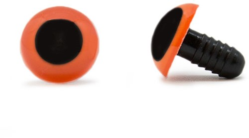Veiligheidsogen Oranje 15mm per paar