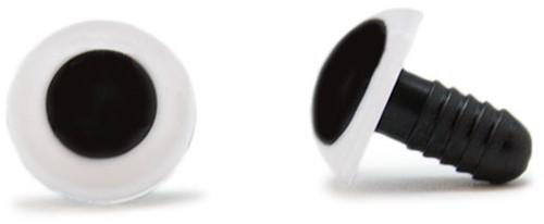 Veiligheidsogen Wit 15mm per paar