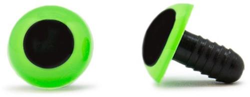 Veiligheidsogen Groen 15mm per paar