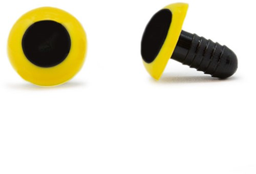 Veiligheidsogen Geel 15mm per paar