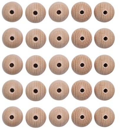 Houten Kralen Set 25 Stuks 15 mm