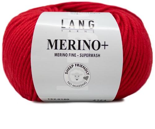 Lang Yarns Merino+ 160 Hot Red