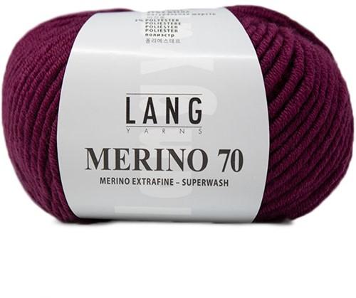 Lang Yarns Merino 70 166 Berry