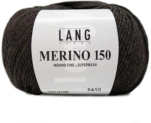 Lang Yarns Merino 150 168 Dark Brown Mélange