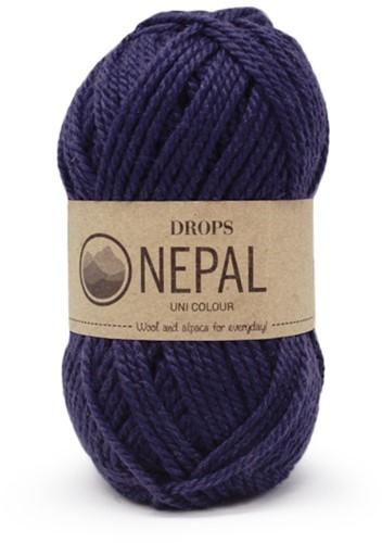 Drops Nepal Uni Colour 1709 Marineblauw