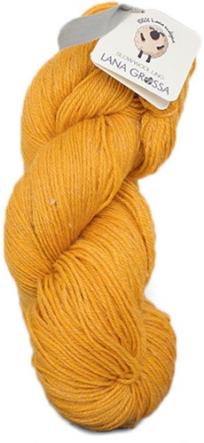 Lana Grossa Slow Wool Lino 017 Safran Yellow