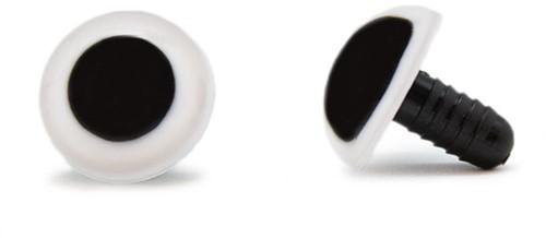 Veiligheidsogen Wit 18mm per paar