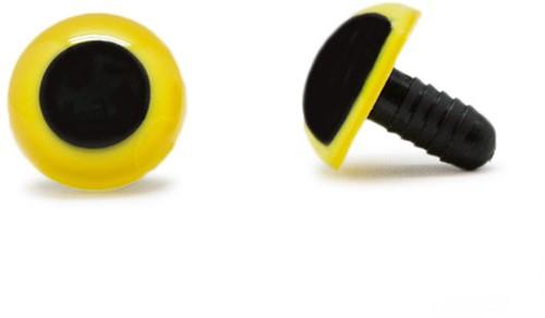 Veiligheidsogen Geel 18mm per paar