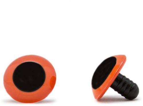 Veiligheidsogen Oranje 18mm per paar