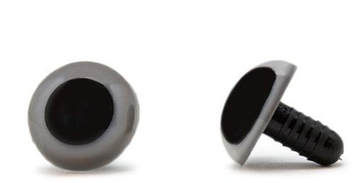 Veiligheidsogen Grijs 10mm per paar