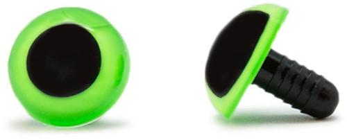 Veiligheidsogen Groen 18mm per paar