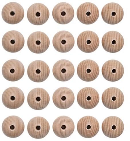 Houten Kralen Set 25 Stuks 18 mm