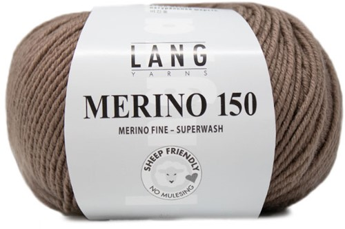 Lang Yarns Merino 150 196 Light Brown