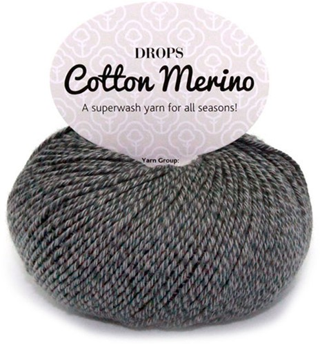 Drops Cotton Merino Uni Colour 19 Grijs