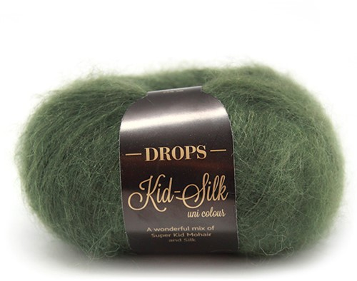 Drops Kid-Silk Uni Colour 19 Dark-green