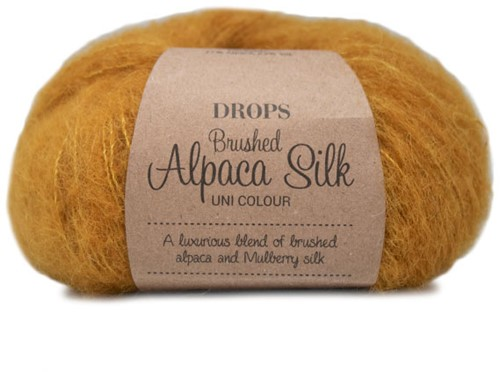 Drops Brushed Alpaca Silk Uni Colour 19 Curry