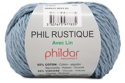 Phildar Phil Rustique 19 Denim