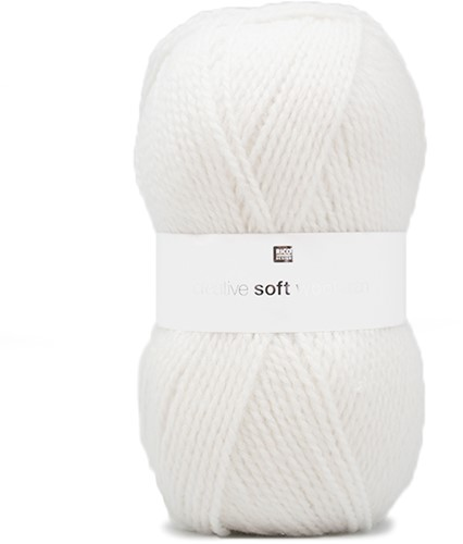 Rico Creative Soft Wool Aran 1 Cream