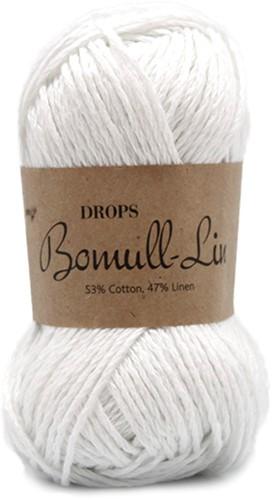 Drops Bomull-Lin Uni Colour 01 White