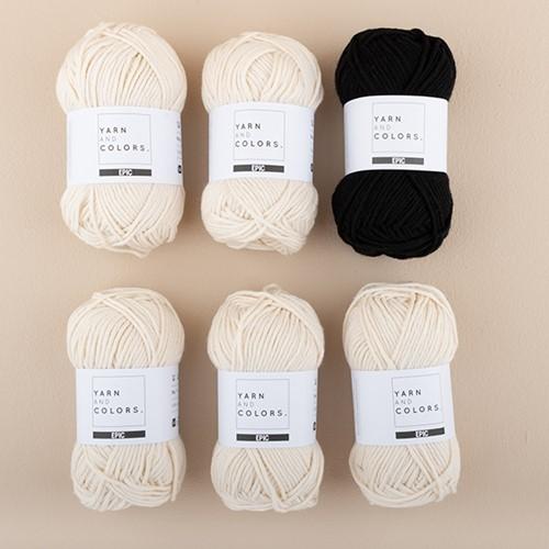 Yarn and Colors Striped Jumper Breipakket 5 S Black