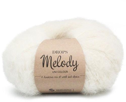 Drops Melody Uni Colour 01 Off-white
