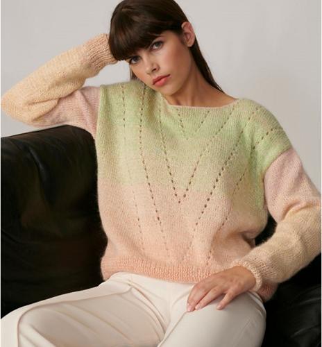 Breipatroon Creative Cotton Dégradé Lucky 8 Trui