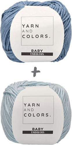 Babydeken Fabulous Gradient Haakpakket 2 Blue