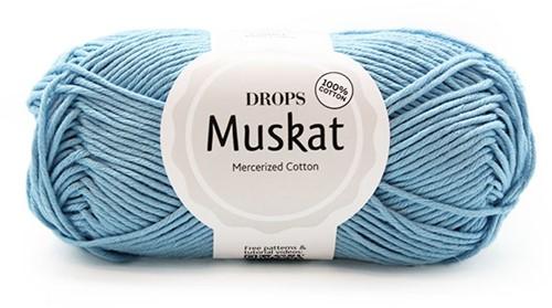Drops Muskat Uni Colour 02 Light-blue