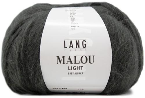 Malou Light Lang Vest Breipakket 1 S Dark Olive