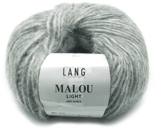 Malou Light Lang Vest Breipakket 2 XL Grey