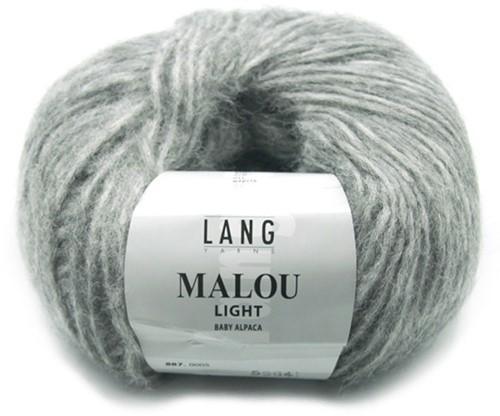 Malou Light Lang Vest Breipakket 2 L Grey