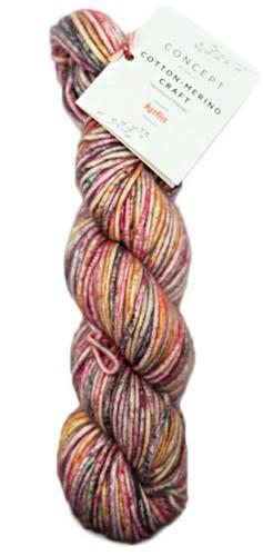 Katia Cotton Merino Craft 201 Coral / Lila / Orange