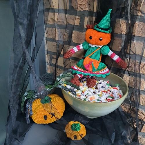 Haakpatroon Halloween Pompoenmeisje