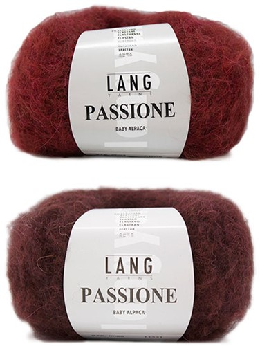 Passione Reversible Jasje Breipakket 1 S/M Aubergine / Red
