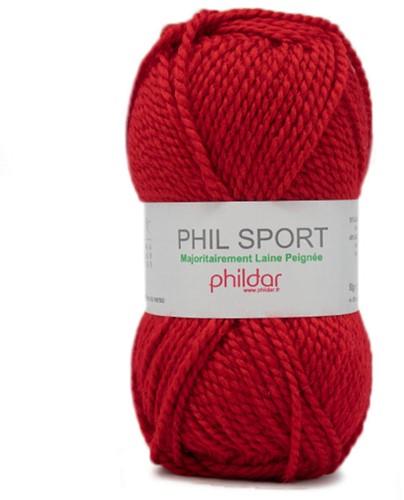 Phildar Phil Sport 2038 Rouge